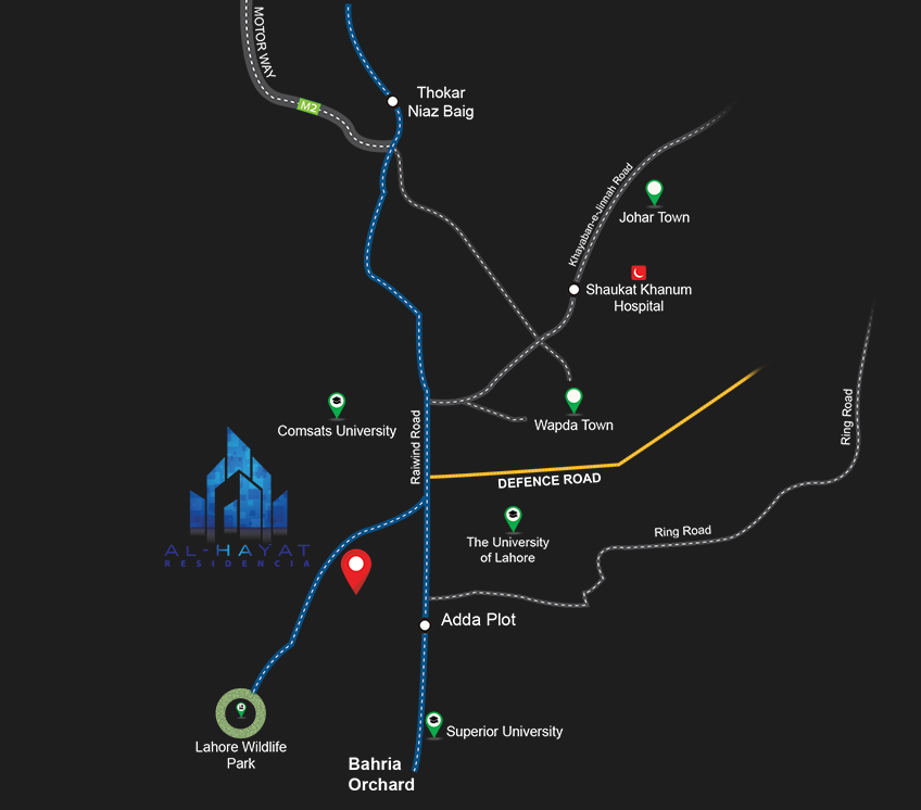 zameen ace homes location map